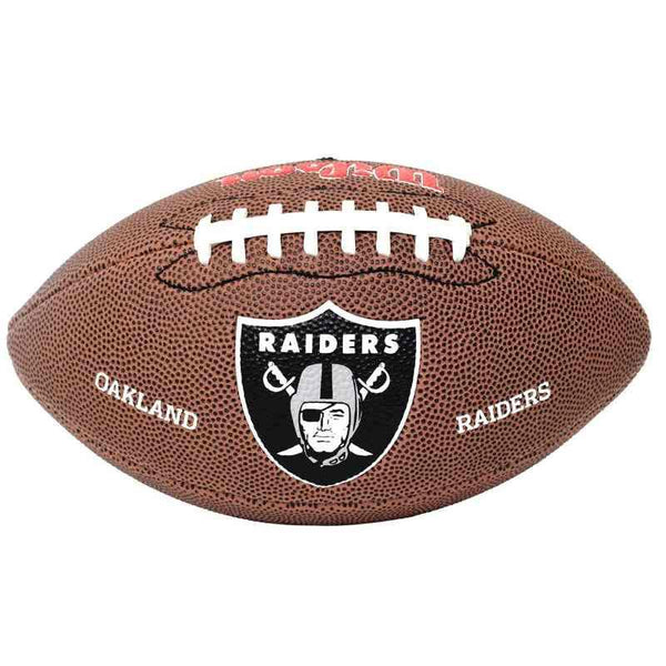 Balón Junior NFL Team Logo Raiders Wilson