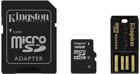 Kit Lector Usb 2.0 Microsd Mbly4g2/16gb Kingston