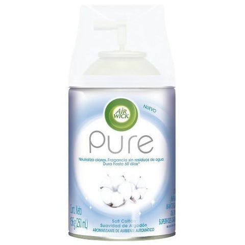 Aromatizante Air Wick Freshmatic Pure Soft Cotton 250 Ml