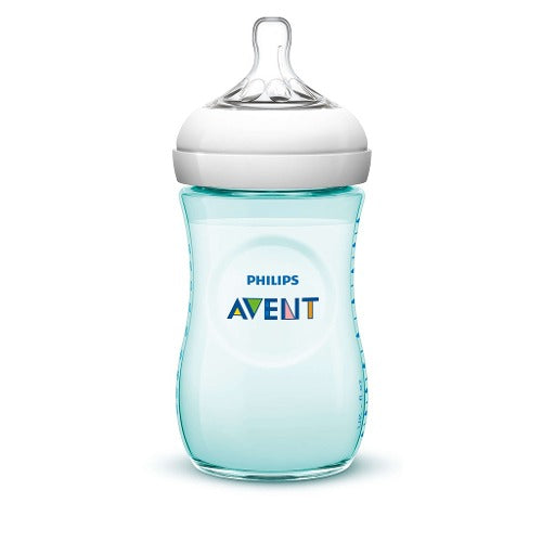 Biberón Philips Avent Natural 9oz/260ml SCF693/15 Aqua +1M