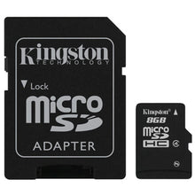 Memoria Micro Sd de 4GB a 32GB Clase 4 con Adaptador SD Kingston