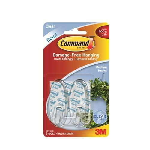 3m Command Gancho Decorativo Mediano Transparente