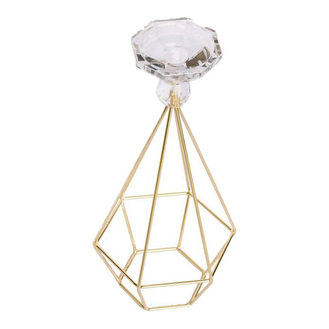 Candelabro Base Hexagono  Grande Ah 004 Decorativo Bm Home
