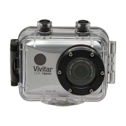 Camara de Accion Vivitar Tipo GoPro 786 Full HD 12MP - Plata