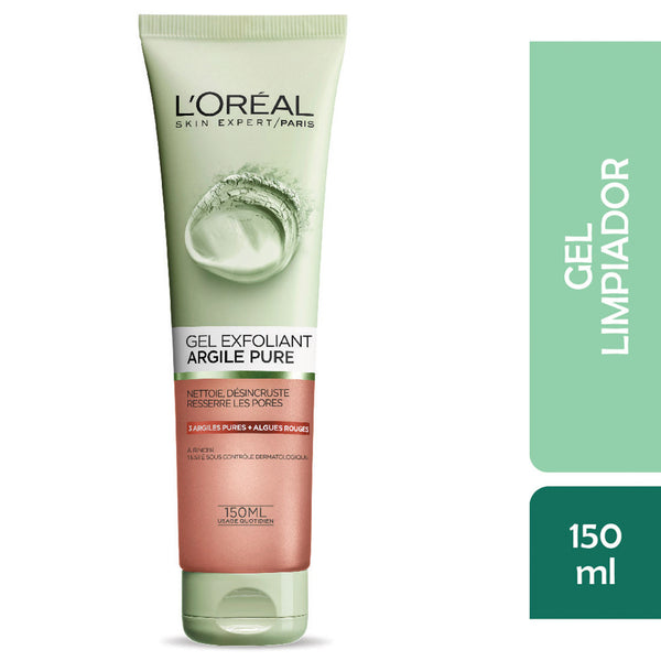 Limpiador Facial Gel Exfoliante Arcilla 130ml L'Oréal Paris
