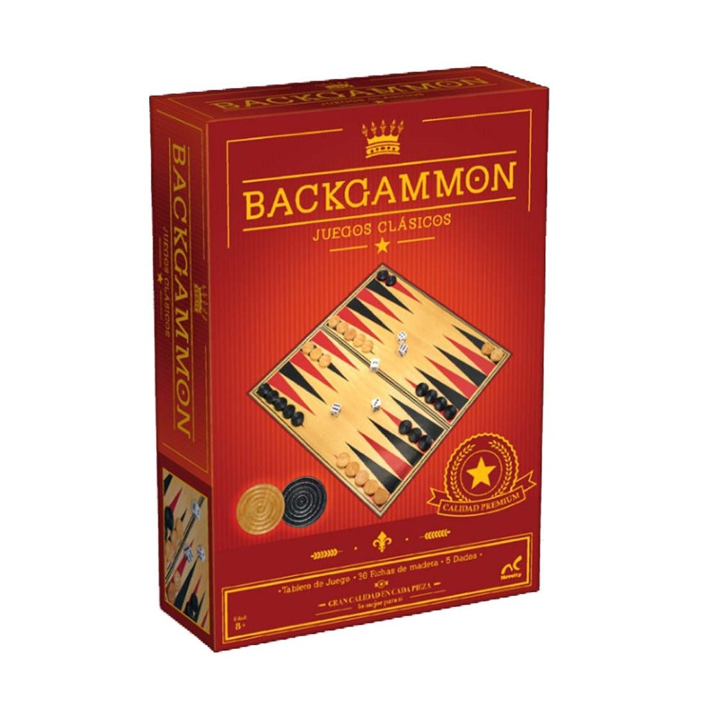 Juego De Mesa Backgammon Clasico Carton Plastificado Novelty Ibushak