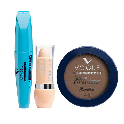 Set Sombra+Mascara Pestañas Corrector Ojeras Vogue Medio