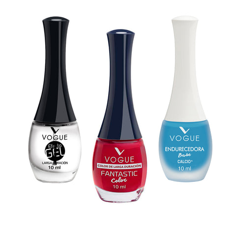 Set Esmalte Uñas Fantastic Vogue Larga Duracion+Endurecedor