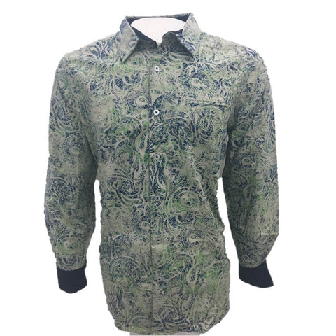 Camisa Casual Caballero Verde Manga Larga English Laundry