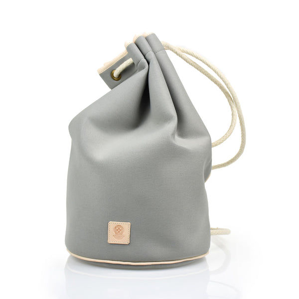 Draw String Neoprene Bag Grey
