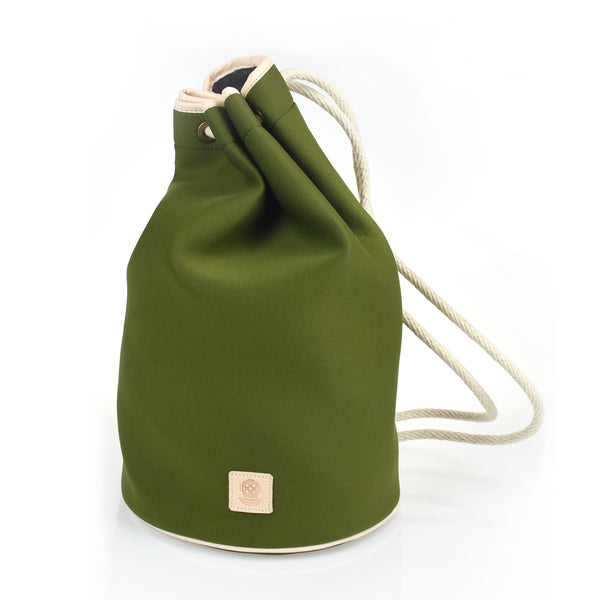 Drawstring Neoprene Bag Olive