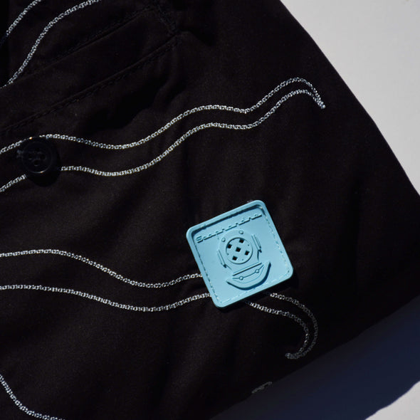 Swim Shorts Embroidered Octopus Black