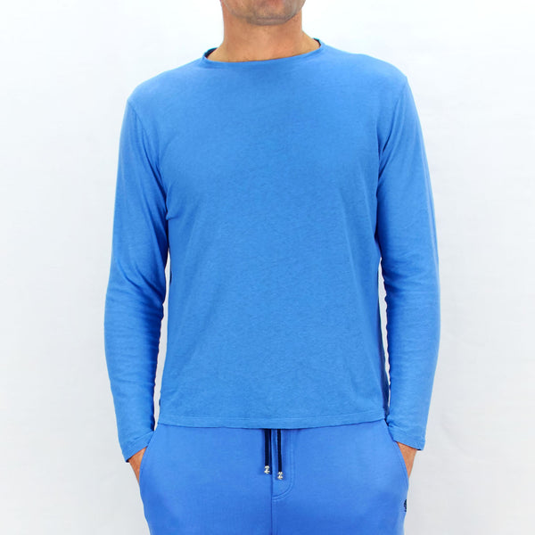 Long Sleeve T-Shirt Pool Blue