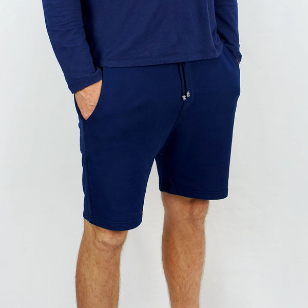 Leisure Track Shorts Navy