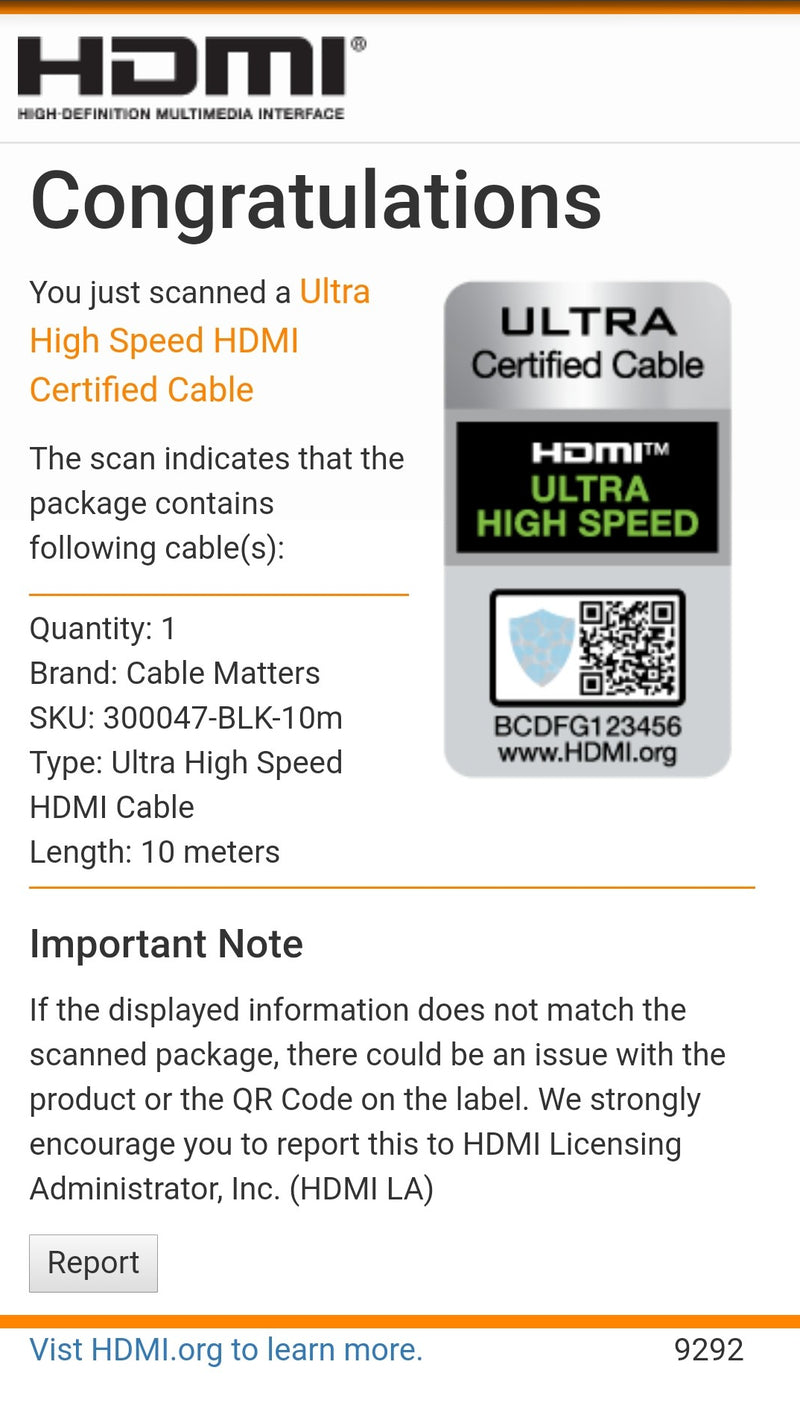 Cable Matters certifierad Ultra High Speed HDMI aktiv AOC optisk fiberkabel 10m 8K 60Hz 4K 120Hz 48Gbps Dynamic HDR, eARC, VRR kompatibel med RTX 3080 3090 HDMI2.1