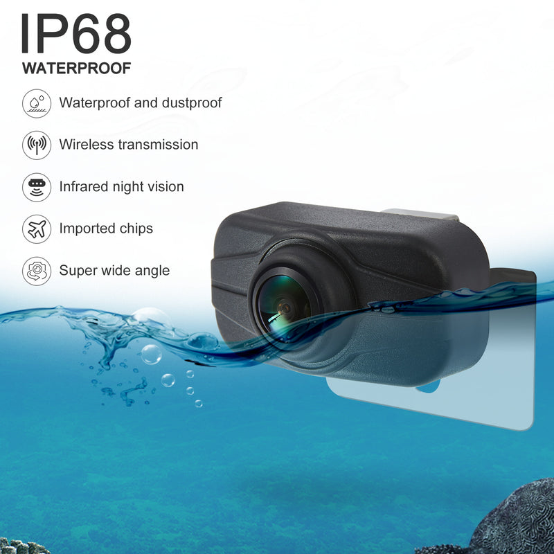 NÖRDIC Trådlös 2,4G backkamera med 5tum LCD monitor 1080p waterproof IP68 Night Vision