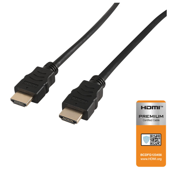 NÖRDIC CERTIFIED CABLES Premium High Speed HDMI with Ethernet 2m 18Gbps 4K 60Hz UHD HDCP 2.2 HDR Dolby® Vision ARC  HDMI2.0