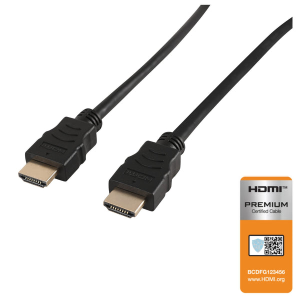NÖRDIC CERTIFIED CABLES Premium High Speed HDMI with Ethernet 3m 18Gbps 4K 60Hz UHD HDCP 2.2 HDR Dolby® Vision ARC  HDMI2.0