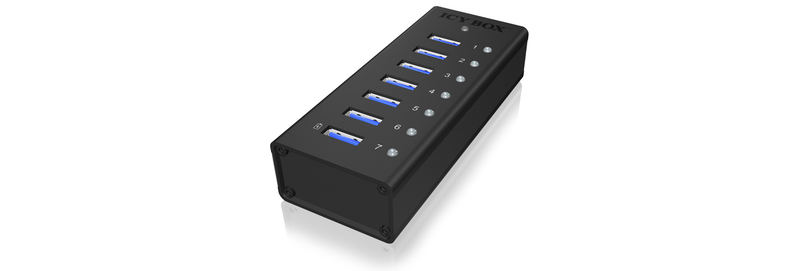 ICY BOX IB-AC618 USB Hubb 7port USB3.0 5Gbps