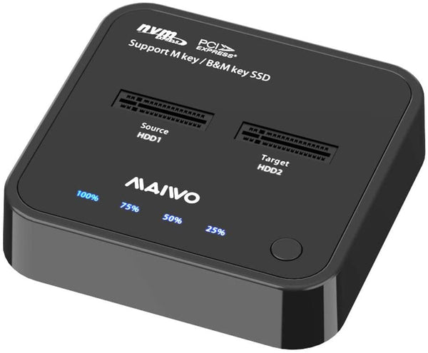 Maiwo K3016P dockingstation för cloning of NVMe SSD 1:1 10Gbps M-Key och B+M Key