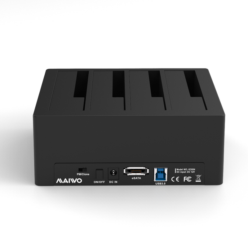 MAIWO USB 3.0 5Gbps 4-bay 2,5 3,5 HDD SSD dockingstation med kloning 1:3