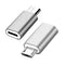 NÖRDIC Lightning till Micro USB Adapter space grey metal