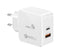 Promate POWERCUBE USB Laddare med USB C 18W PD och USB A 18W QC 3,0 Qualcomm Quickcharger 36W Max
