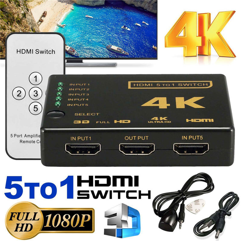 NÖRDIC HDMI switch 5-1 4K 30Hz UHD Dolby Digital