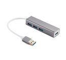 NÖRDIC USB 3.1 4port 5Gbps hubb 17cm Aluminium Space Grey