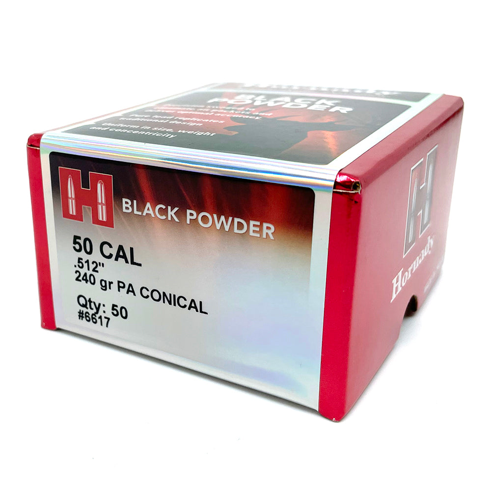 Hornady 50 cal Black Powder PA Conical Bullets
