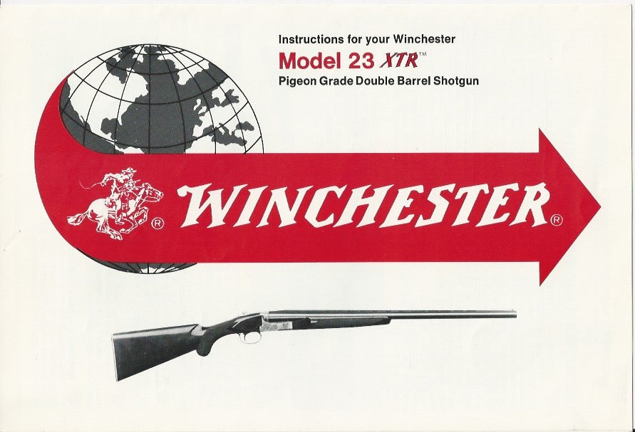 Winchester Model 23XTR Pigeon Grade O&U Instruction Booklet