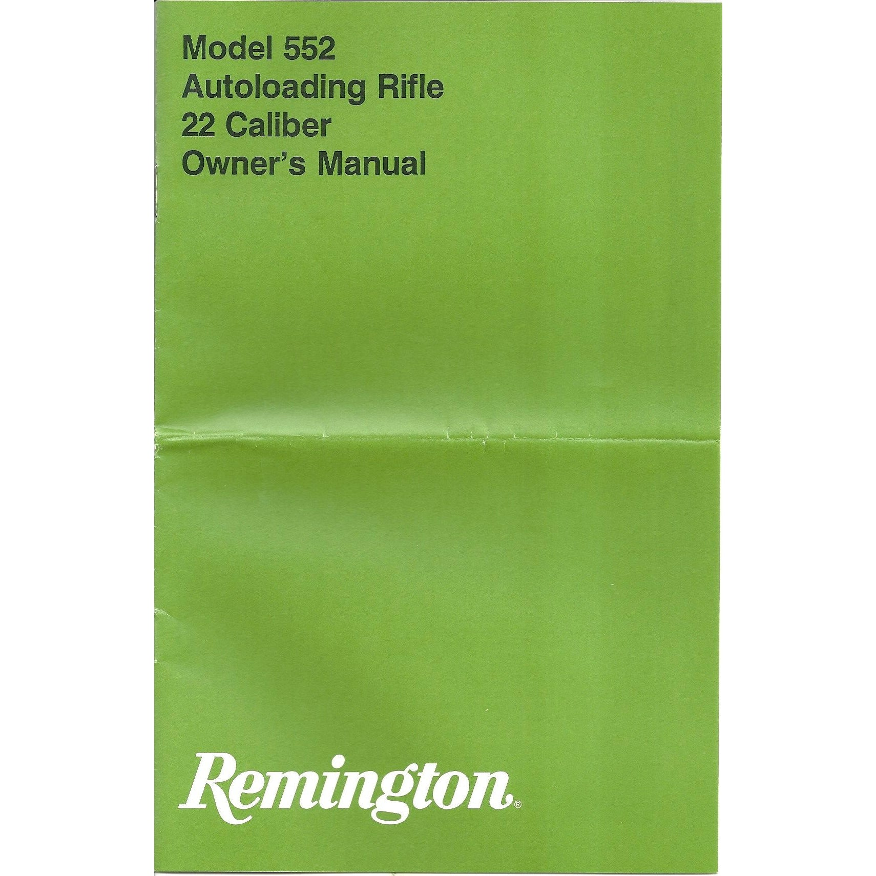 Remington Model 552 22 Cal Manual,Firearm Manuals- Canada Brass