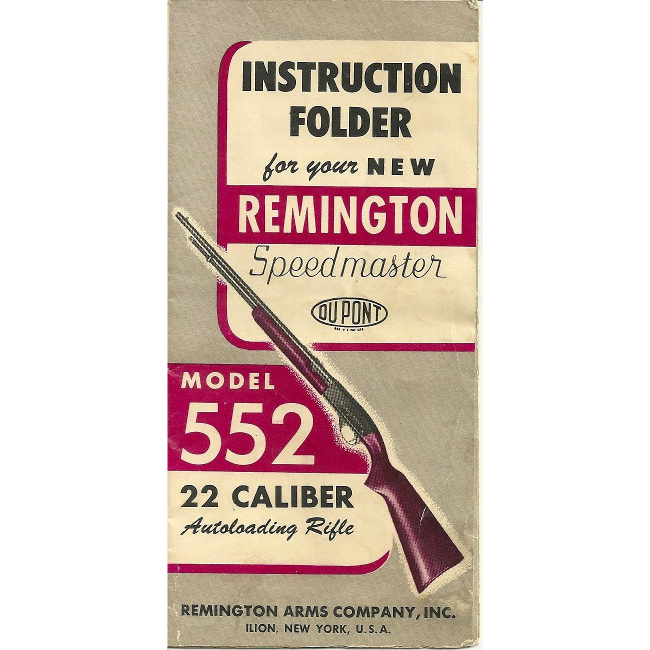 Remington Model 552 22 cal. Semi-auto Rifle Manual,Firearm Manuals- Canada Brass