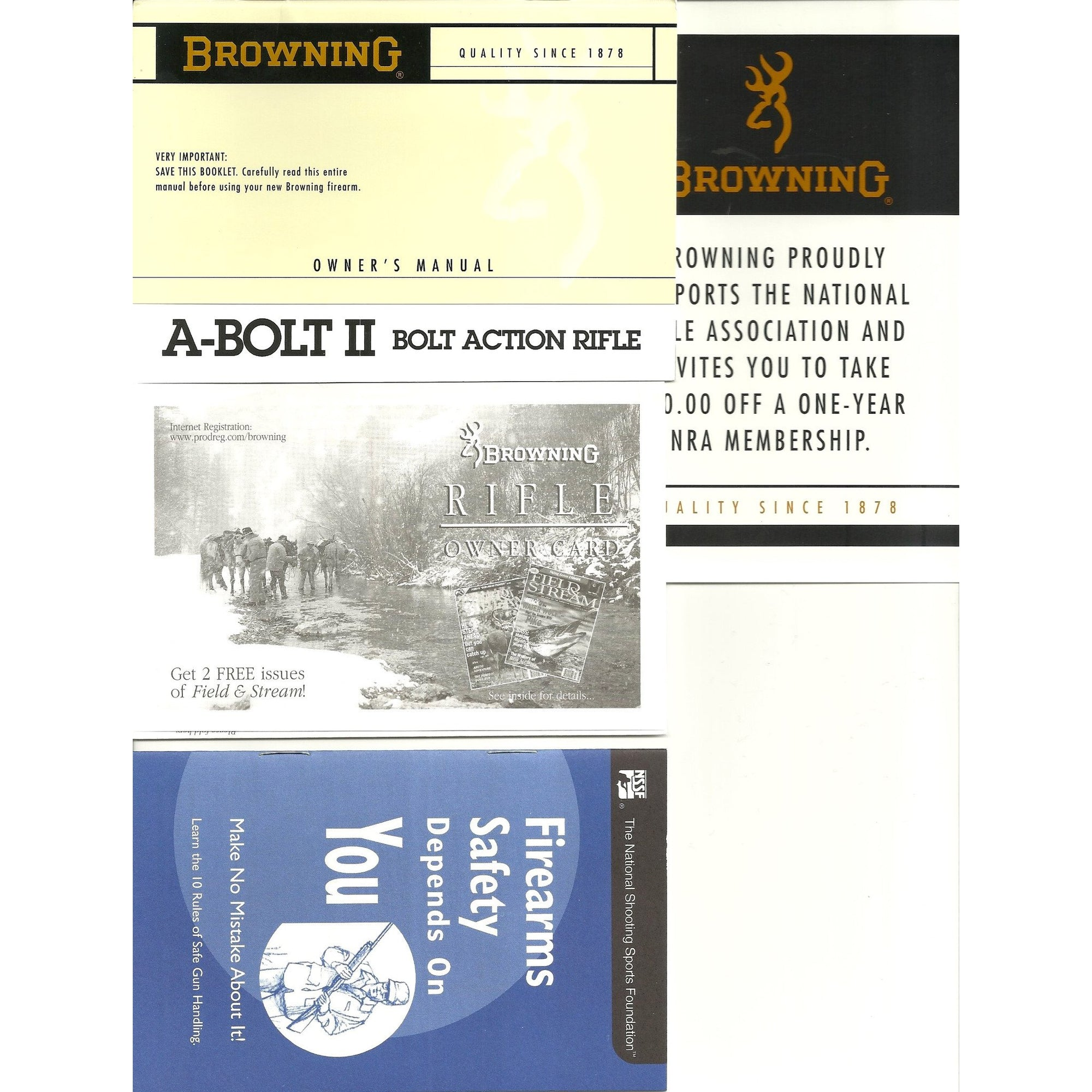 Browning A-Bolt II Rifle Manual,Firearm Manuals- Canada Brass