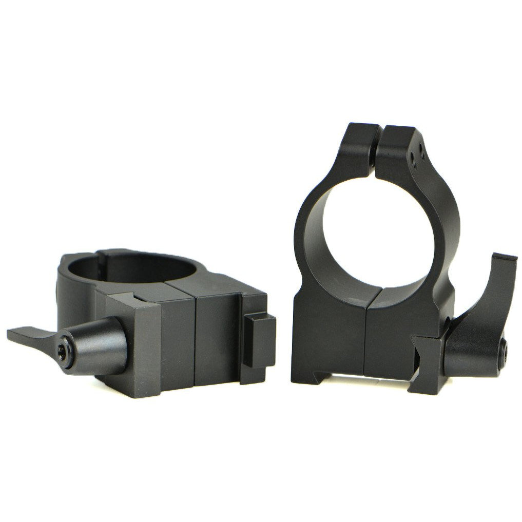 Warne Quick Detach Matte Rings for CZ,Scope Mount Systems- Canada Brass