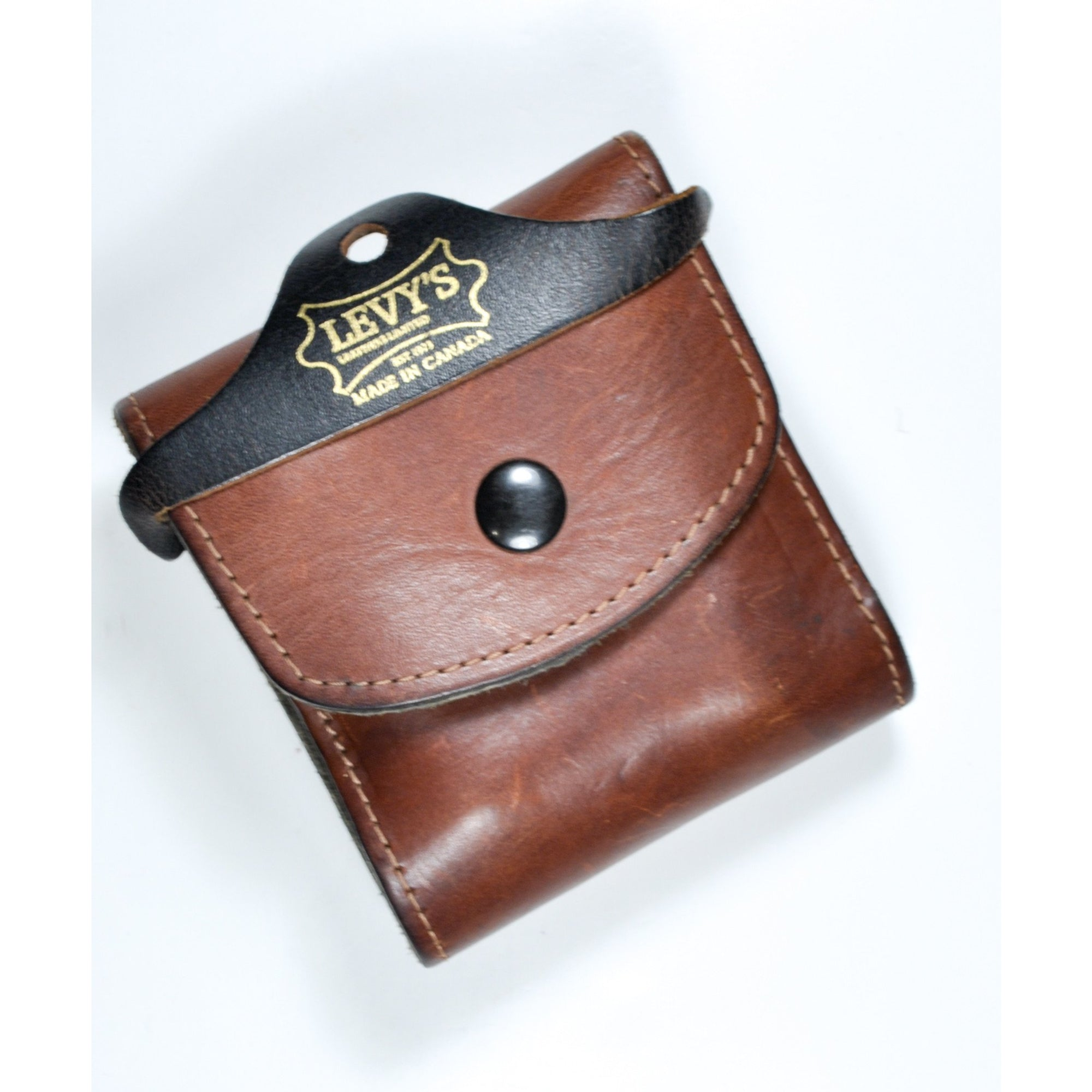 Levy's Heavy Leather Multi Choke Lined Belt Wallet,New Magazines- Canada Brass