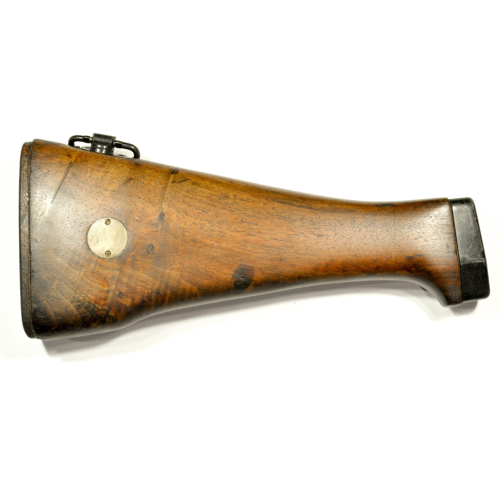 FN L1A1 Walnut Butt Stock with Front Nylon Piece & Rear Swivel,Previously Owned Stocks and Fore-Ends- Canada Brass