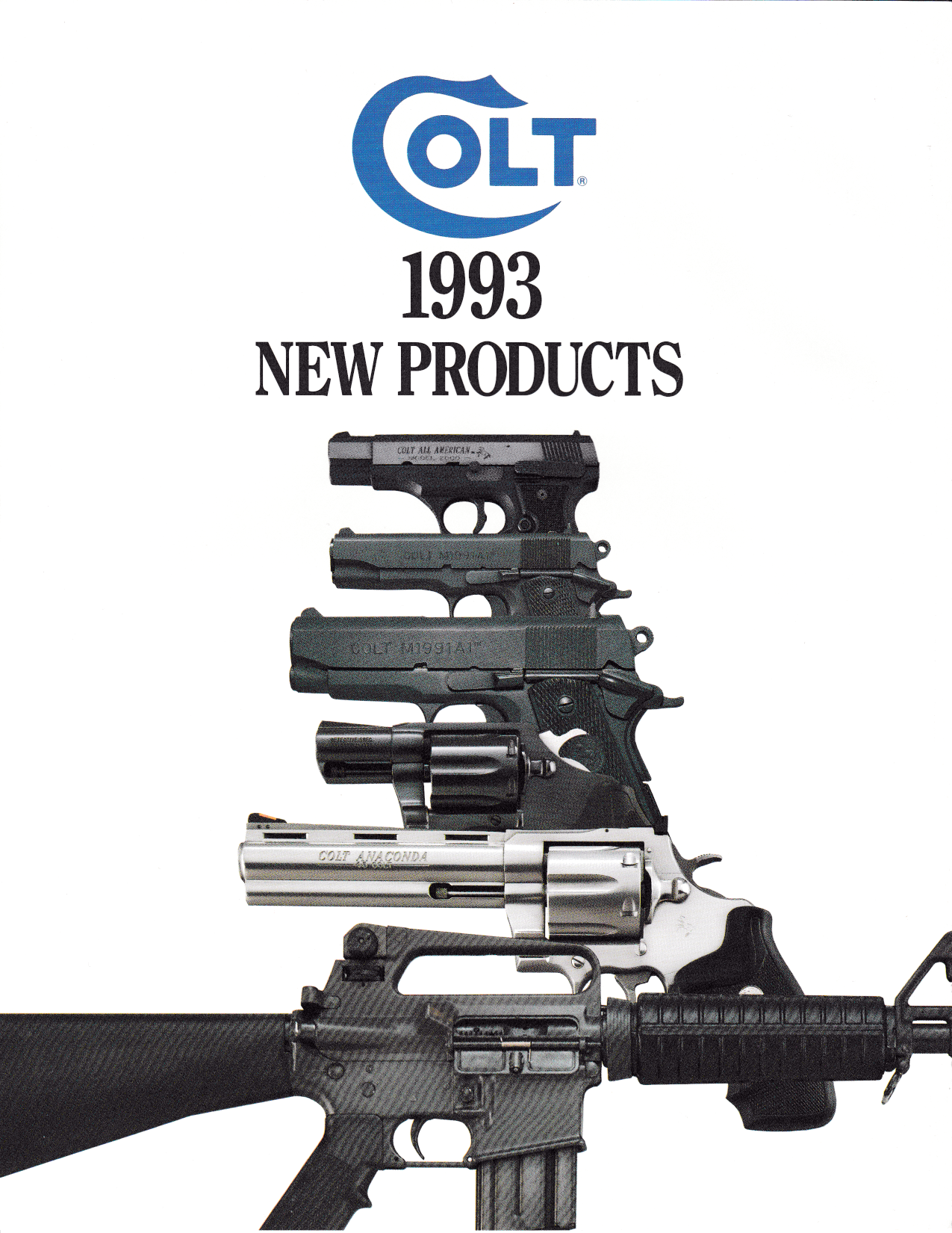 Colt 1993 Full Size Brochure Catalogue 6 sides,Catalogues & Brochures- Canada Brass