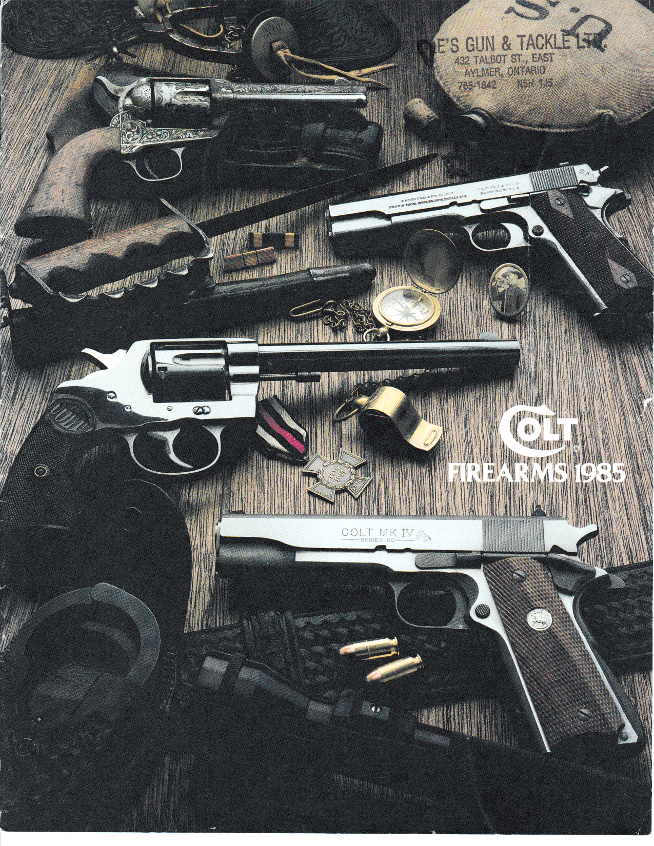 Colt Firearms 1985 Full Size Catalogue,Catalogues & Brochures- Canada Brass