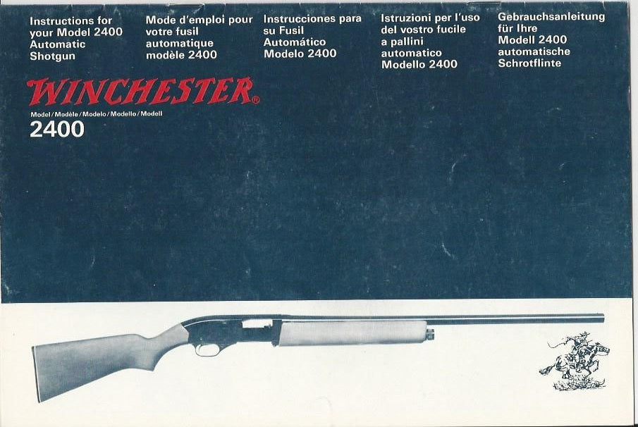 Winchester Model 2400 Shotgun Instruction Manual