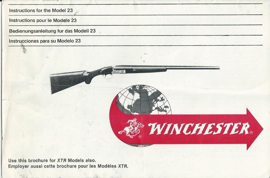 Winchester Model 23 Instruction Manual