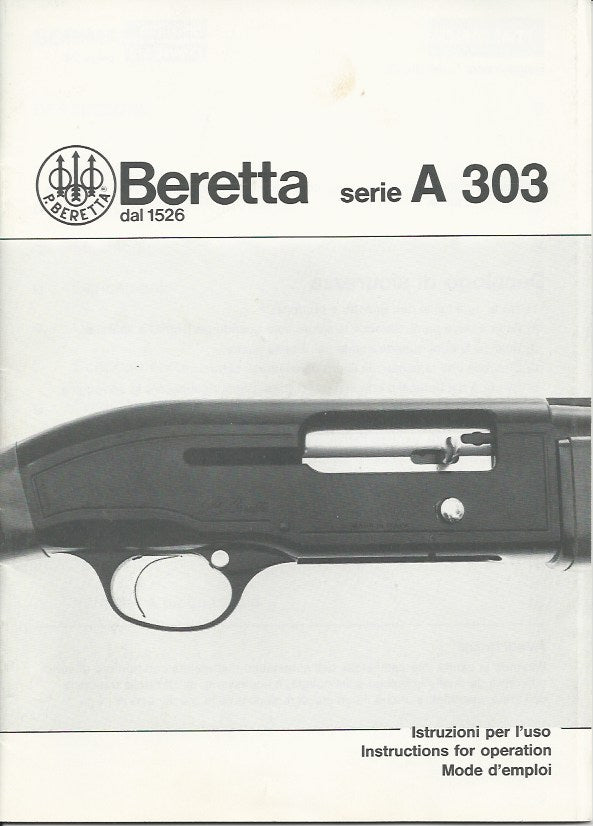 Beretta A303 12 or 20ga Manual