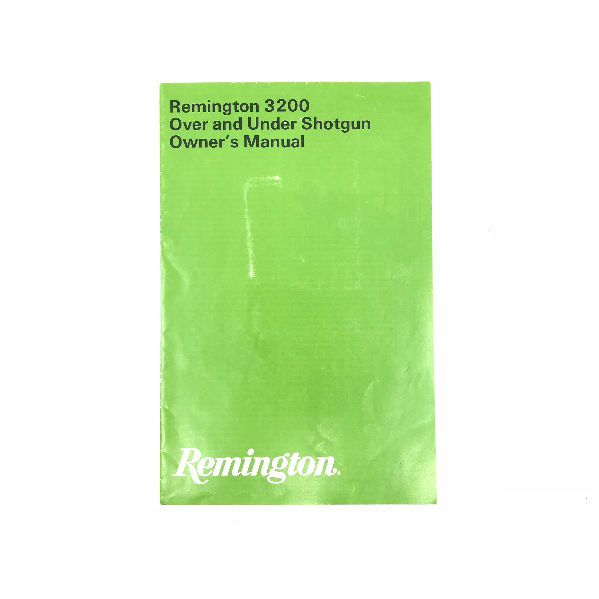 Remington 3200 Over & Under Shotgun Owner's Manual,Firearm Manuals- Canada Brass