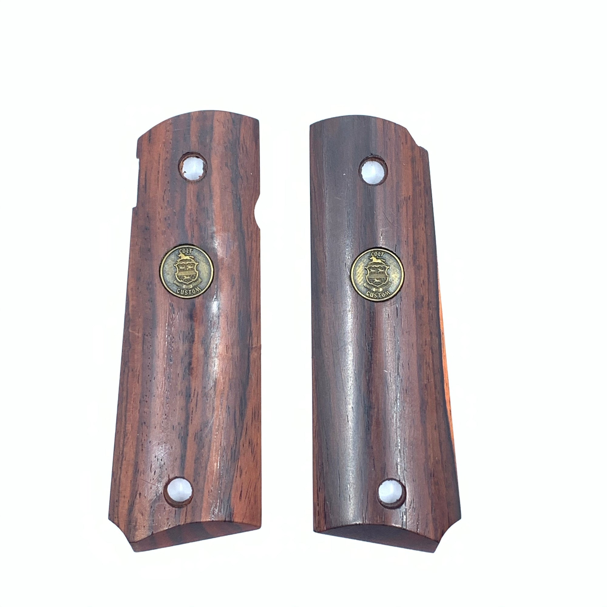 Colt 1911 Fancy Wood Grip Set with Colt Custom Emblem