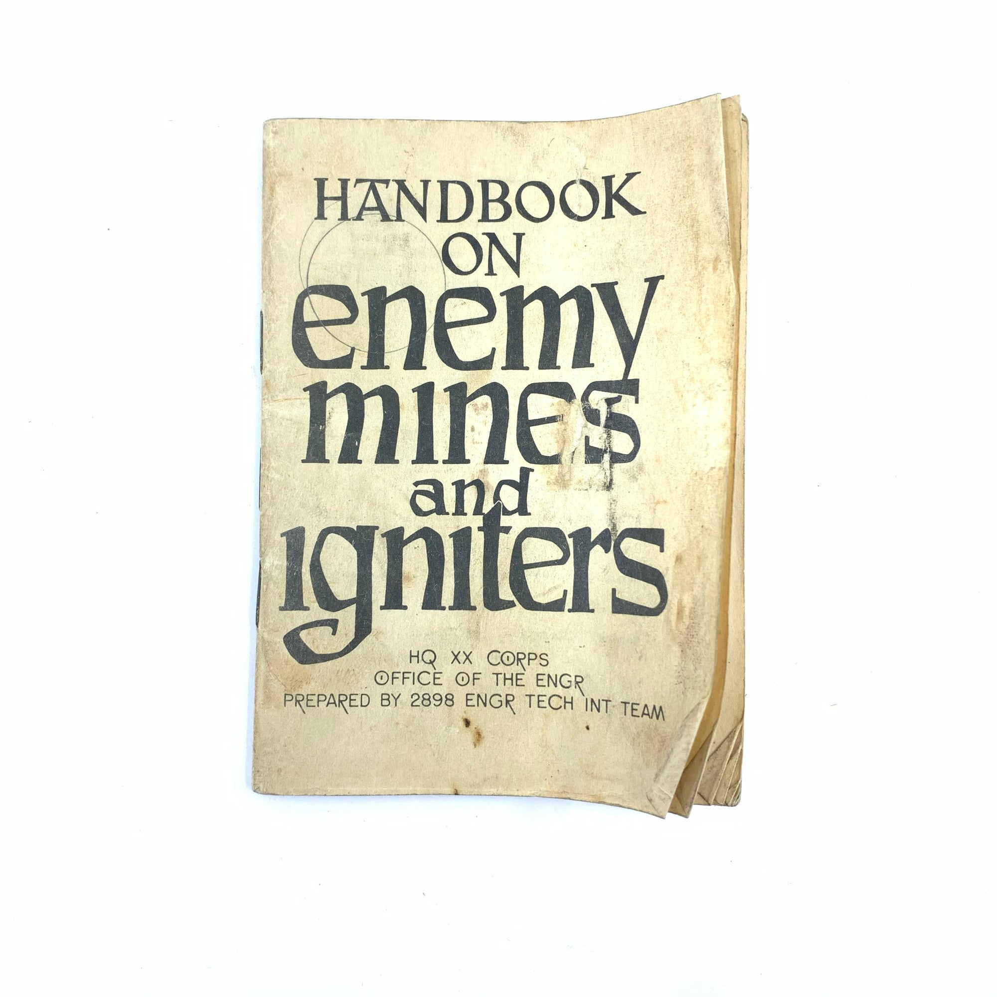 Handbook on Enemy Mines & Igniters HQ Engineers Report 1945 Small 60 pgs