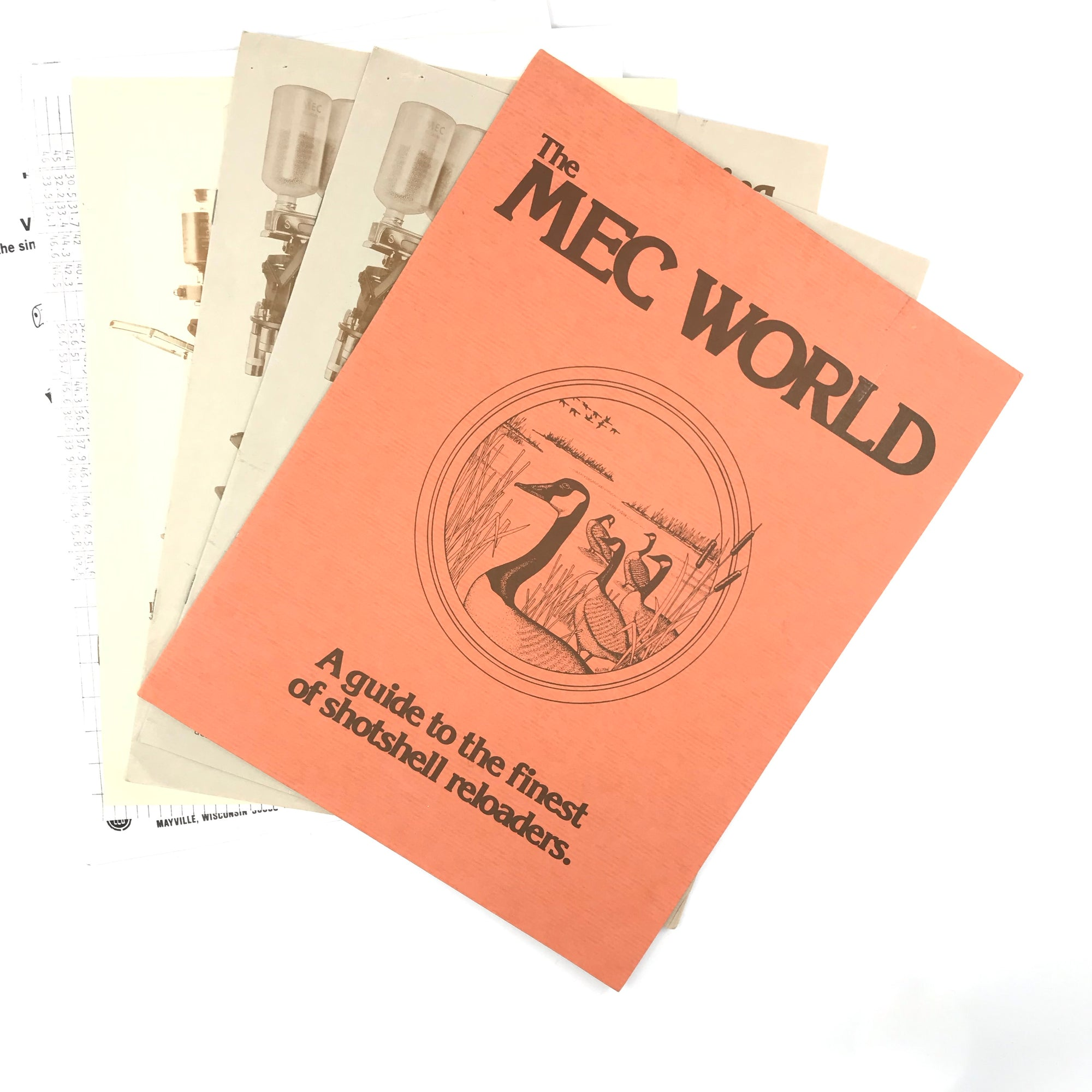 The MEC World A Guide to the Finest of Shotshell Reloaders Pamphlet / (2) MEC 700 Versamec Instruction Manual / Grabber 76 Instruction Manual