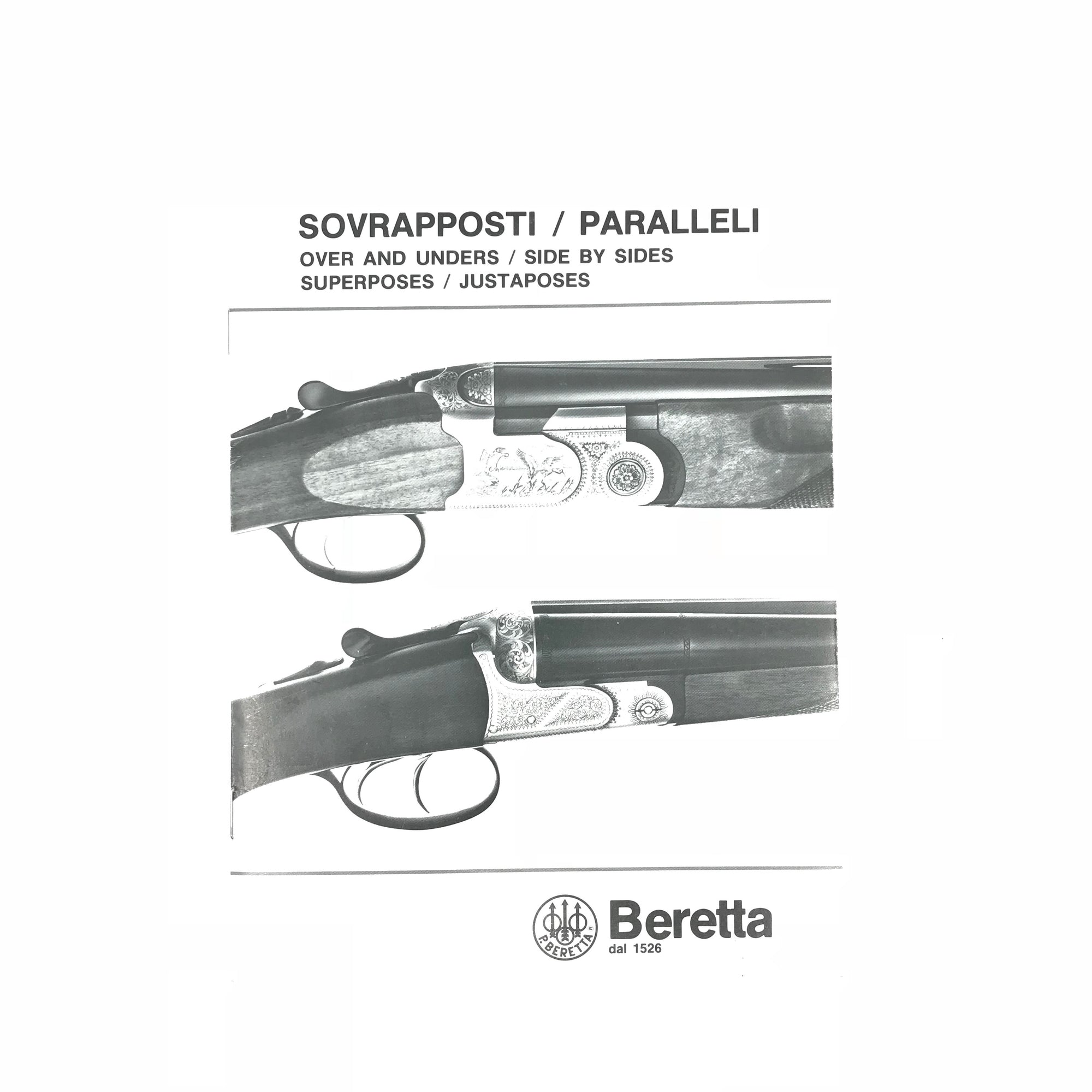 Beretta Over & Unders/ Side by Sides Manual,Firearm Manuals- Canada Brass