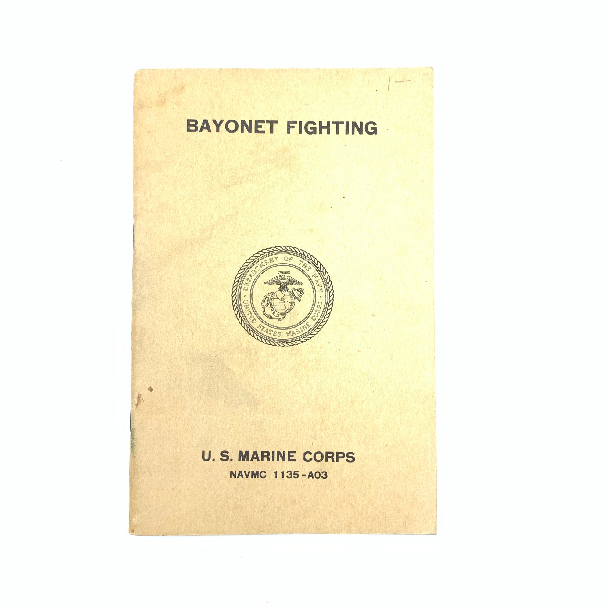 Bayonet Fighting US Marine Corps 1957 Small SB Book 41 pgs