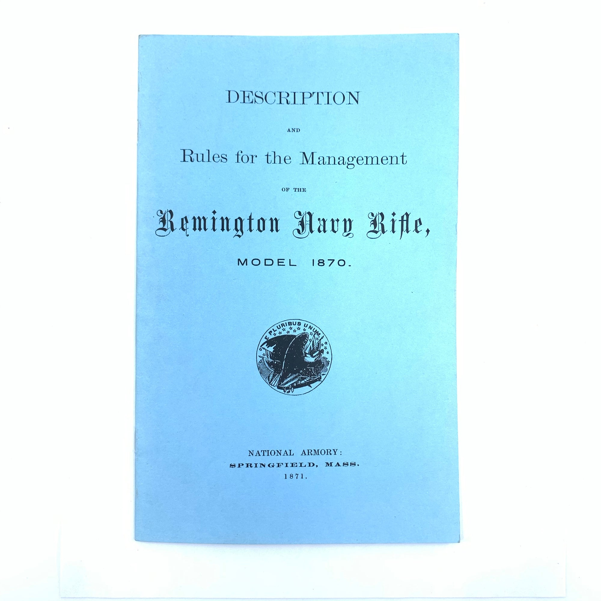 Description and Rules of the Remington Navy Rifle Model 1870 13 pgs Reprint