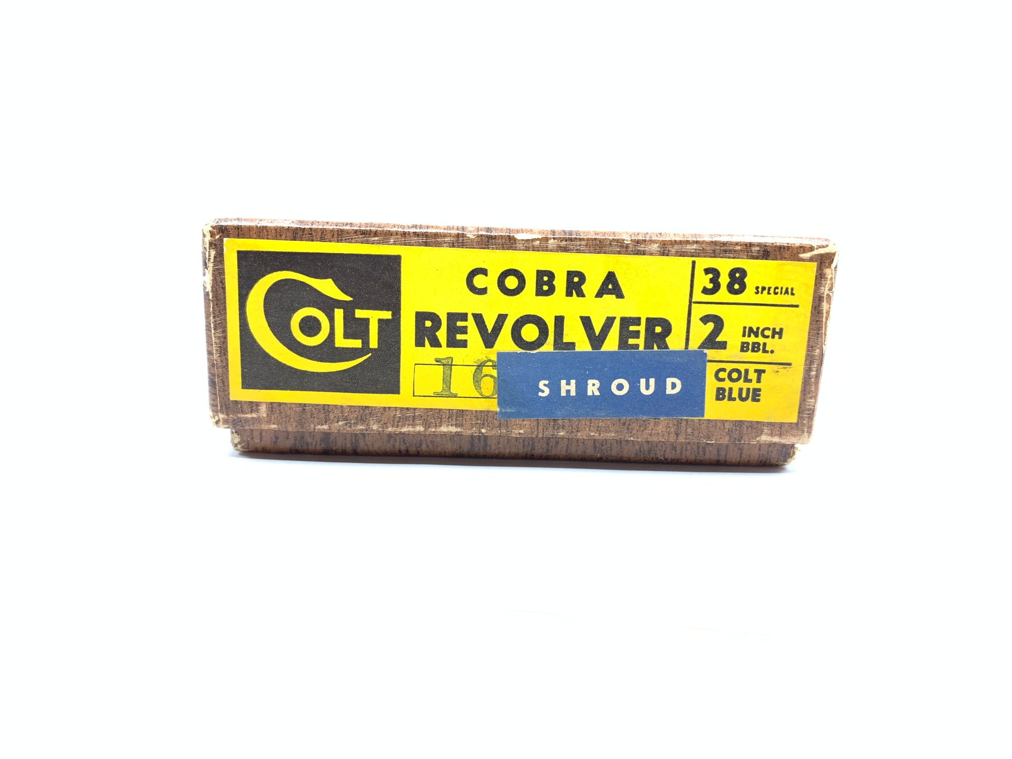 "Colt Cobra Revolver Box Only 38 Spec 2"" Blued has Shroud Sticker"